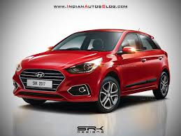 2018 hyundai line. unique line 2018 hyundai i20 facelift rendered in red colour and hyundai line