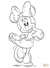 Small Picture Minnie Mouse coloring page Free Printable Coloring Pages
