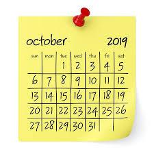 3d Paper Flower Calendar October 2019 Calendar Isolated On White Background 3d
