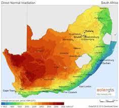 جنوب أفريقيا الحرارة خريطة - خريطة جنوب أفريقيا في درجة الحرارة (أفريقيا  الجنوبية - أفريقيا)