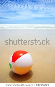 Beach ball in sand Toy Beautiful Beach And Beach Ball On The Sand Can Stock Photo Beautiful Beach Beach Ball On Sand Stock Photo edit Now 134956529