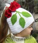 Вязанные шапочки хвостики