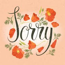 Sorry Card With Red Flowers Vector Free Download Fascinating Sorry Image Download