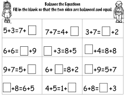 stunning maths balancing equations worksheet pictures inspiration
