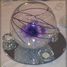 gerberas in clear gel fish bowl