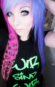 Emo Girl Hair Style emo girl ira vampira scene queen colorful hair purple blue 1241 by wearticles.com