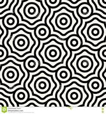 Trippy Pattern Fascinating Abstract Geometric Black And White Graphic Design Print Floral