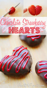 chocolate covered strawberry hearts why didn t i think of this