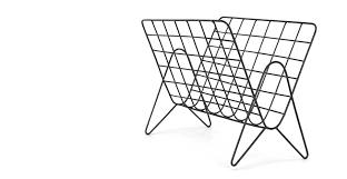 wire furniture. A MADE Essentials Wire Magaine Rack, In Black Furniture