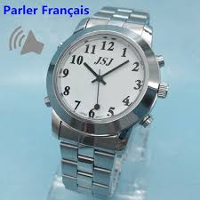 compare prices on mens talking watches online shopping buy low french talking watch for blind or low vison people le francais parle alarm function for