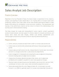 Sales Analyst Resume Examples Best of President Job Description Samples Tierbrianhenryco