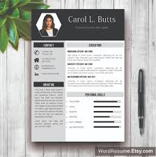 Buy Resume Templates Clean Resume Template With Photo Cover Letter Carol L Butts 1