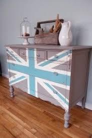 painted furniture union jack autumn vignette. Hand Painted Union Jack Chest Of Drawers Furniture Autumn Vignette