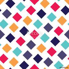 pillow texture seamless. Vector Modern Seamless Colorful Geometry Square Pattern, Color Abstract Geometric Background, Pillow Multicolored Print Texture O