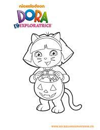 Coloriages Coloriage De Dora D Guis E Pour Halloween Fr