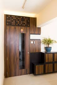Two Door Apartment Design Entrance Door Safety Door Entryway Wood Grill Door