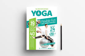 Design And Print Flyers For Free Free Yoga Poster Flyer Templates Psd Ai Vector