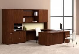 incredible office furnitureveneer modern shaped office. Wood Modern Office U-shaped Workstation Nucraft Equate Incredible Furnitureveneer Shaped