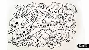 Small Picture kawaii food coloring pages Archives Best Coloring Page