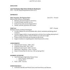 Resume Samples For Highschool Students Canada Archives