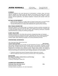 marketing resume objectives examples