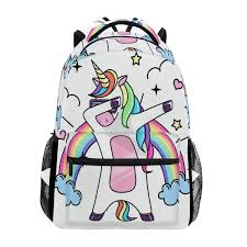 <b>ALAZA</b> New <b>Backpack School Bags</b> unicorn Prints Fashion boy girls ...