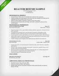 Real Estate Resume Samples Musiccityspiritsandcocktail Com