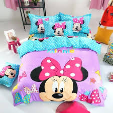 mickey and minnie duvet cover details about bedding set mouse single double king size pillow case
