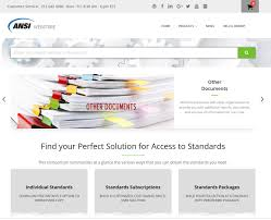 Standards At Your Fingertips Ansi Re Launches Webstore Ansi Org