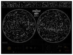 <b>1DEA</b>.<b>me Карта</b> звездного неба <b>Star Map</b> of the Sky, 80 × 60 см ...