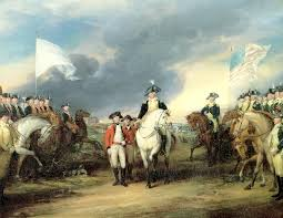 general benjamin lincoln accepted the british surrender at yorktown as washington looked on in this classic painting by john trumbull