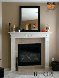 white fireplace mantels a dramatic fireplace makeover white moulding black mantel white antique wooden fireplace surround