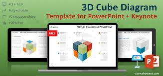 Diagrama De Cubo 3d Para Powerpoint Y Keynote