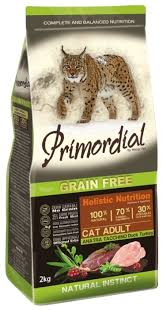 <b>Корм</b> для кошек <b>Primordial</b> (2 кг) <b>Grain</b> Free Cat Adult Duck Turkey ...