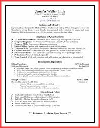 Billing Coordinator Resume Memo Example