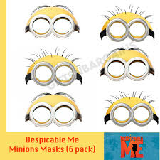 Minions Party Despicable Me Minions Birthday Party Supplies Party Face Masks