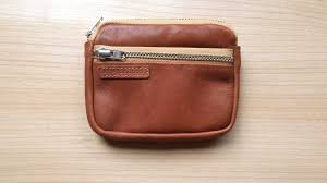 men small leather wallet tan