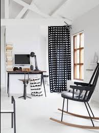 ferm living laundry basket crescent of cotton black  white