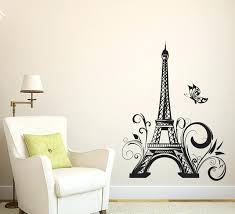 eiffel tower decor tower decor wall sticker vinyls stickers wall stickers home decor living room wall eiffel tower decor