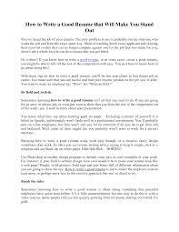 resume  what makes a good resume  corezume coresume