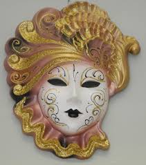 Decorative Venetian Wall Masks decorative wall mask Mary XL rose golden 56