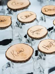 DIY cocktail glass wedding favors