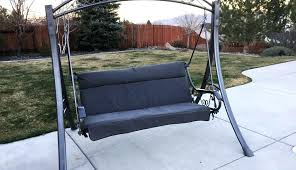 seater swings chair waterproof for covers outdoor john s chairs replacement garden seats 3 swing seat cushions