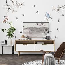 Mooie Vogel Muurstickers Voor Woonkamer Restaurant Interieur Diy