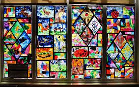 stained glass window classroom display