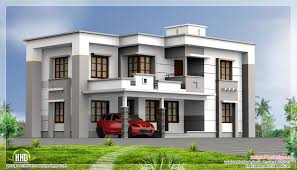 Square House Roof Design 2400 Square Feet Flat Roof House Kerala Home Design And