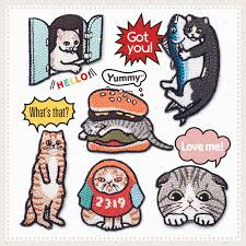 AHYONNIEX <b>1 PC cute cats</b> series Patches <b>Embroidery</b> fashion ...