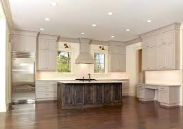 kitchen crown molding taupe cabinets kitchen crown molding size