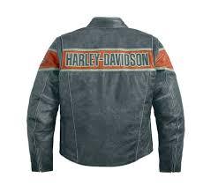 harley davidson reg men s victory lane riding jacket distressed leather