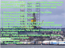 Pdms Piping Designer Structural Process Hse Pdms Qa Qc Electrical Engineer Oil